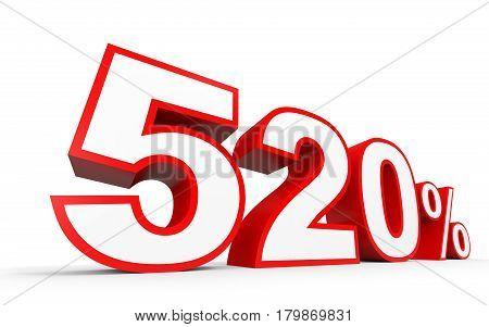 Five Hundred And Twenty Percent. 520 %. 3D Illustration.