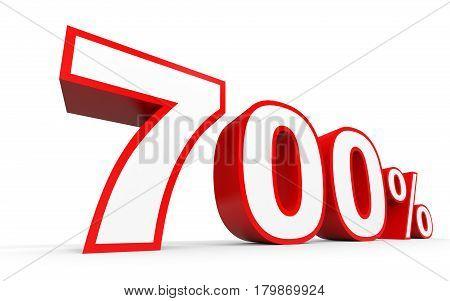 Seven Hundred Percent. 700 %. 3D Illustration.