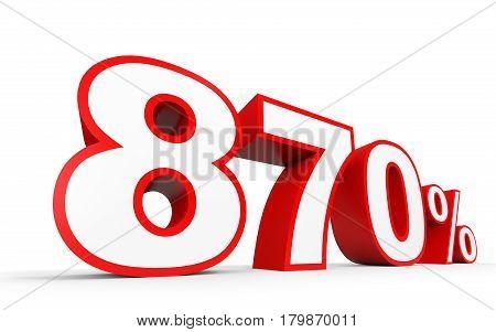 Eight Hundred And Seventy Percent. 870 %. 3D Illustration.