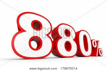 Eight Hundred And Eighty Percent. 880 %. 3D Illustration.
