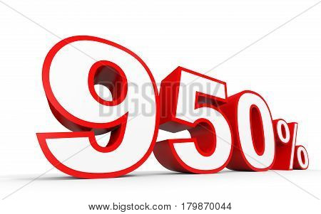 Nine Hundred And Fifty Percent. 950 %. 3D Illustration.