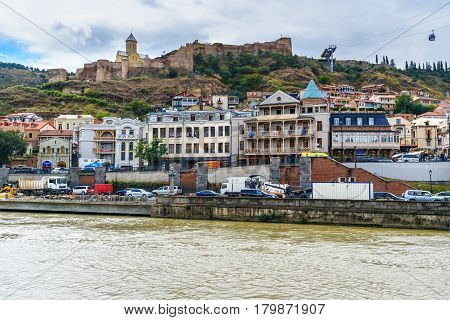 Narikala Fortress And Old City In Tbilisi, Georgia
