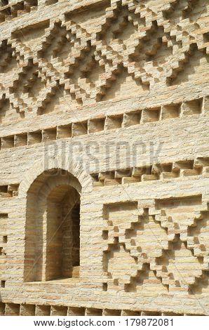 Church tower in Penaflor, Zaragoza Province, Aragon, Spain.