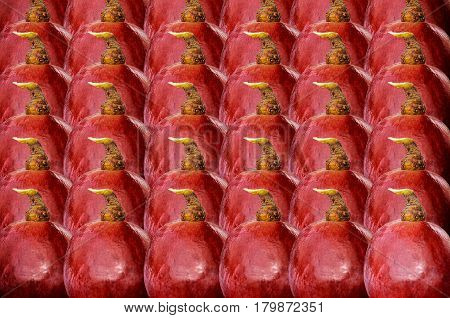 Close up many Red grapes isolate background