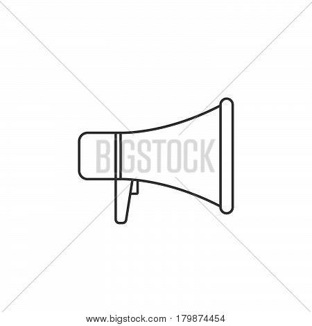 megaphone thin line icon bullhorn outline vector logo illustration linear pictogram isolated on white