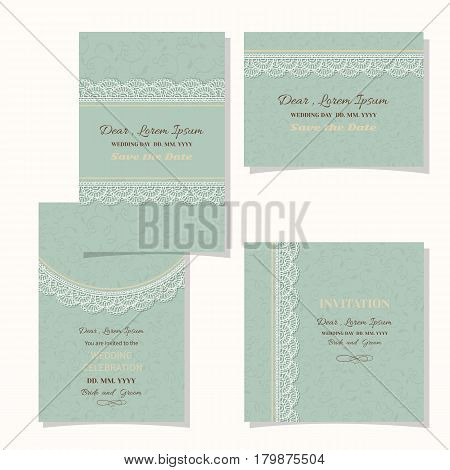 Vintage floral background.Wedding card or invitation border openwork pattern with lace