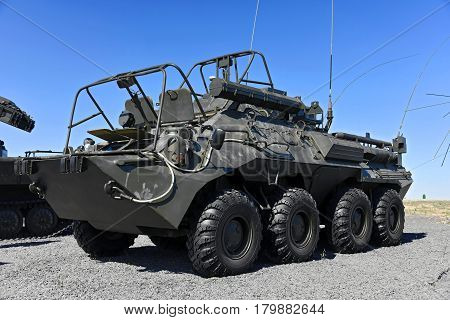 Armored personnel carrier BTR-80 Kadamovskiy polygon Russia September 11 2016. Forum