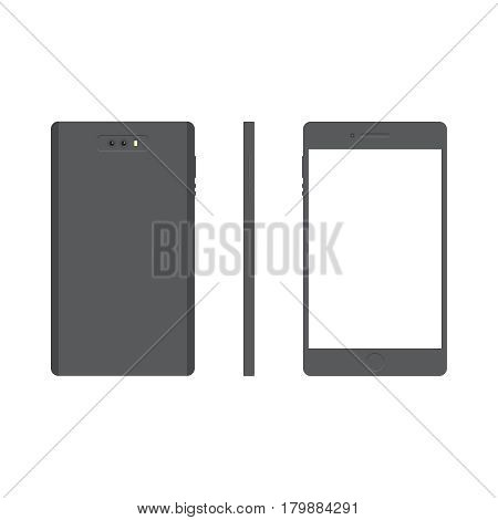 Smartphone vector concept. Phone in modern flat style. Smart technology on background. Smart phone icon. Smartphone isolated vector illustration. Mobile phone for web design on printed materials.