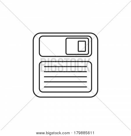 Save thin line icon floppy disk outline vector logo illustration linear pictogram isolated on white