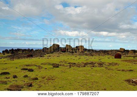 Fallen Moai
