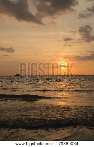 Beautiful Silhouette Sunset