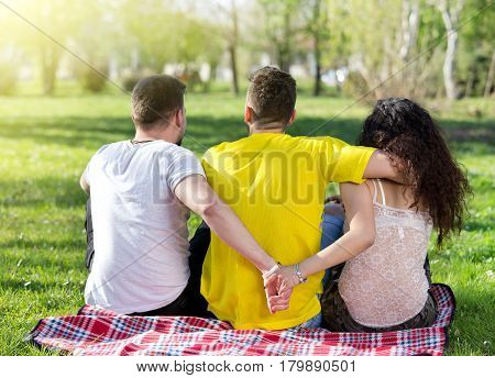 Love Triangle In Park