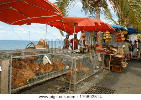 The Market Of Saint Gilles On La Reunion Island, France