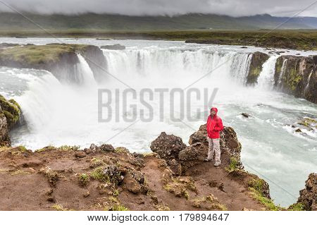 Beautifull view of Godafoss waterfall in Iceland