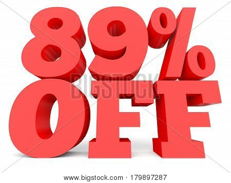 Eighty Nine Percent Off. Discount 89 %.