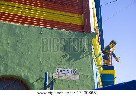 Caminito In La Boca, Buenos Aires City, Argentina.