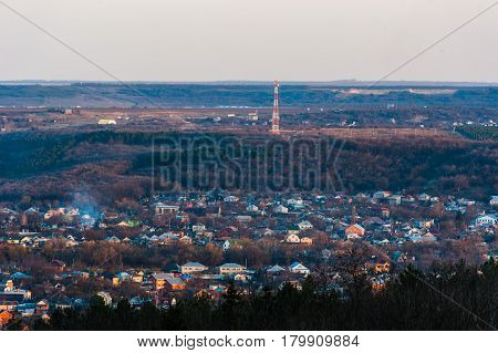 View of the Pyatigorsk city from the hilltop.