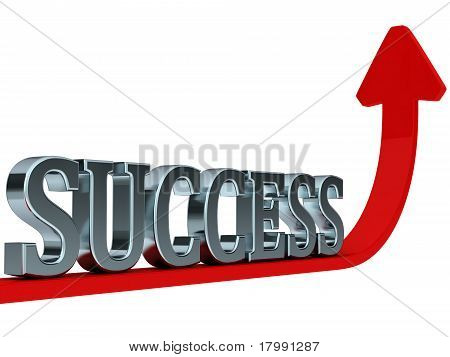 success on red rising curve