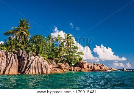 Beautiful St. Pierre Island at Seychelles