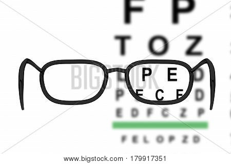 3D Rendering Of Glasses With The Eye Test