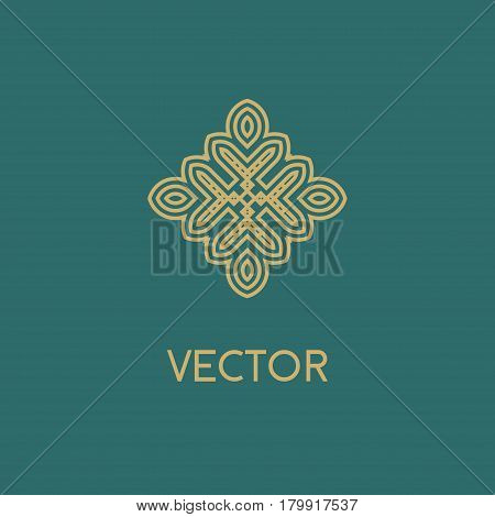 Luxury vector logo. Linear emblem. Flourishes calligraphic monogram emblem template. Luxury elegant frame ornament line logo design vector illustration. Example designs for Cafe, Hotel, Heraldic, Restaurant, Boutique
