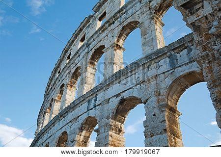 Pula Arena, ancient Roman amphithetre