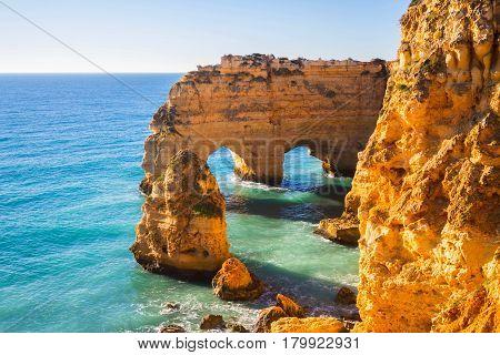Praia da Marinha in Algavre region, Portugal