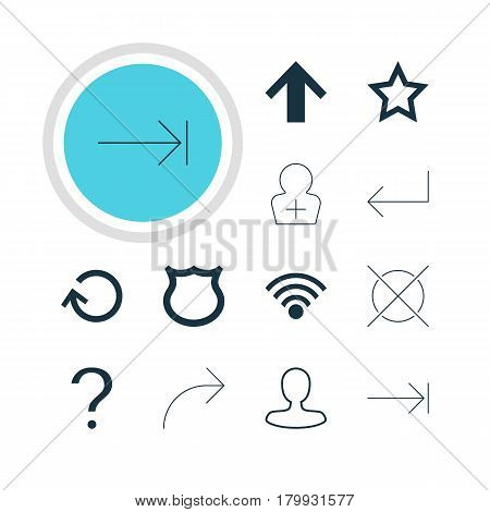 Vector Illustration Of 12 User Icons. Editable Pack Of Conservation, Renovate, Top And Other Elements.
