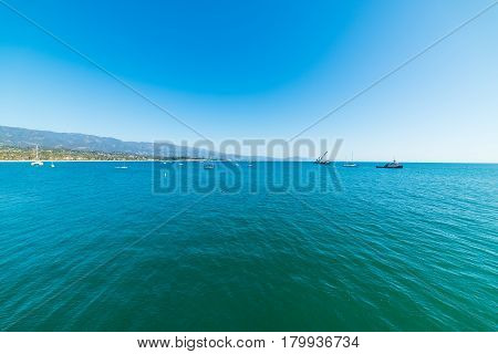 Blue sky and sea in Santa Barbara California