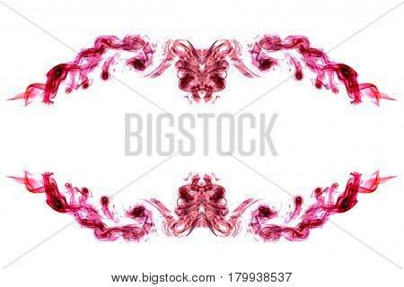 the abstract colorful smoke on white background