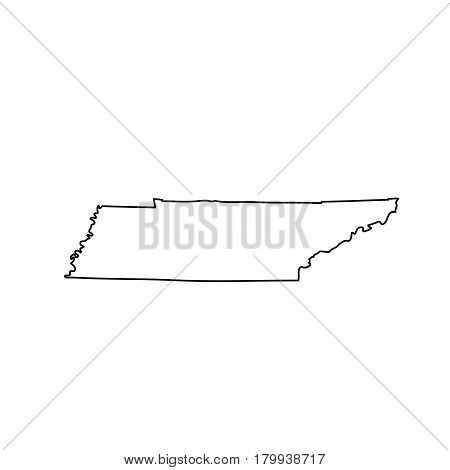 map of the U.S. state of Tennessee. Vector illustration