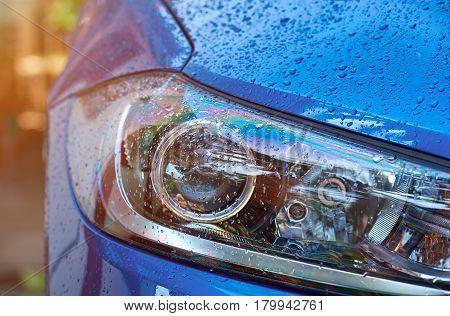 Wet Car Headlight