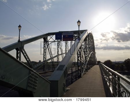 border crossing to Slovakia - bridge Maria Valeria poster