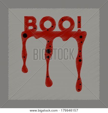 flat shading style icon of halloween boo