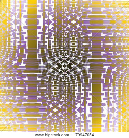 Abstract geometric background. Regular mosaic pattern yellow, brown, purple and white shifted.