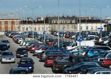 Car Crowded Parking Place