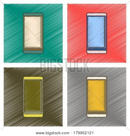 assembly flat shading style icon of mobile phone
