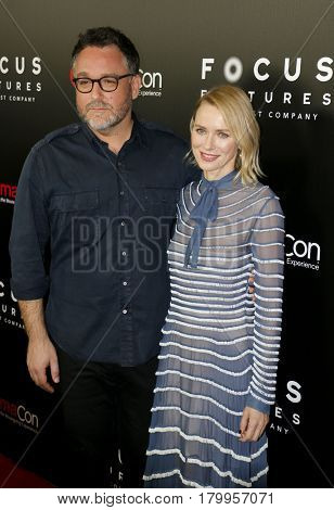 Colin Trevorrow and Naomi Watts at the CinemaCon 2017 - Focus Features Luncheon And Studio Program Celebrating 15 Years held at the Caesars Palace in Las Vegas, USA on March 29, 2017.