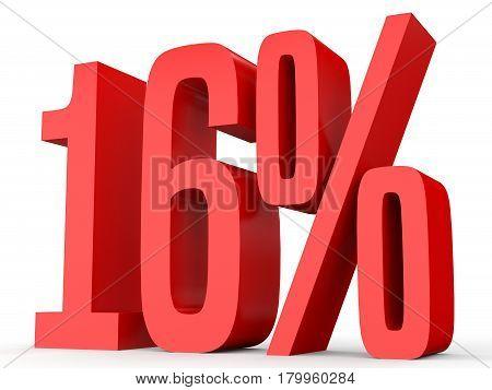 Sixteen Percent Off. Discount 16 %.