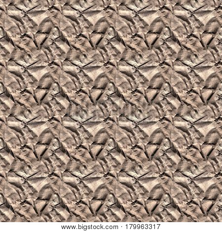 Seamless Texture Of The Old, Crumpled Paper. Endless Texture Can Be Used For Wallpaper, Pattern Fill