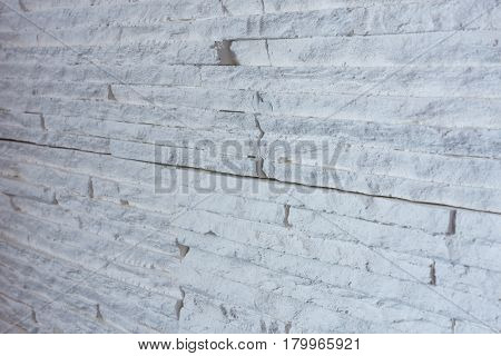 Gypsum facing the wall textured white background