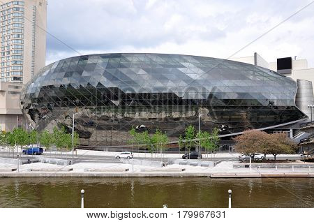 OTTAWA, CANADA - MAY 15, 2012: Ottawa Convention Centre in downtown opened on April 2011, Ottawa, Ontario, Canada