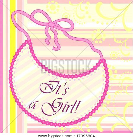 It's a girl. Baby girl announcement