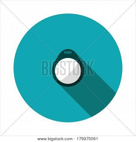Vector clip art proximity keyfob on a round base