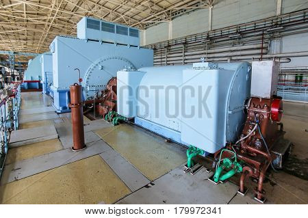 Electricity generation process at nuclear power plant