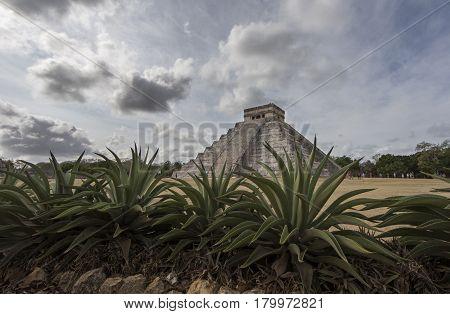 Chichen itza oyramids in Yukatan region of Mexico