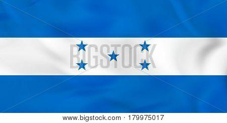 Honduras Waving Flag. Honduras National Flag Background Texture.