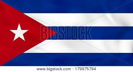 Cuba Waving Flag. Cuba National Flag Background Texture.