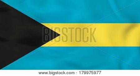 The Bahamas Waving Flag. The Bahamas National Flag Background Texture.