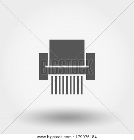 Shredder Paper. Icon for web and mobile application. Vector illustration on a white background. Flat design style